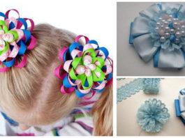 Cómo hacer Moños para el cabello paso a paso. A tus hijas les encantaran!