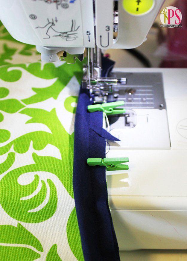 Con pinzas podrás coser los dobladillos