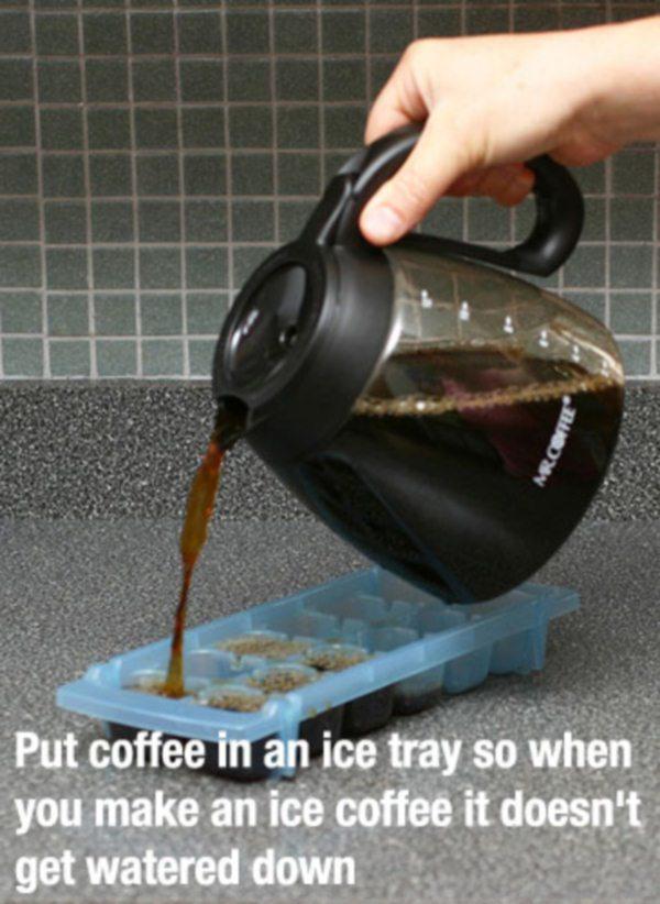 Cubos de café helado
