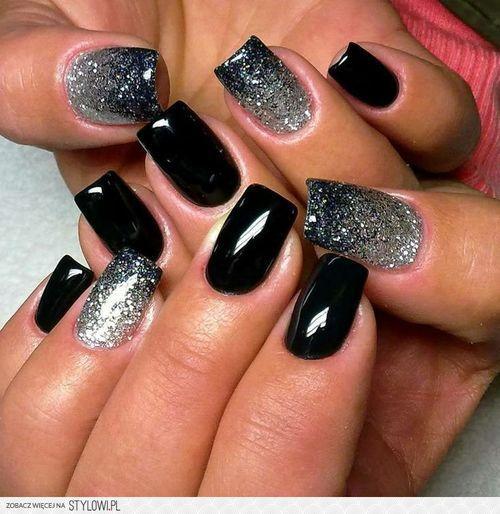Negro y brillo para eventos nocturnos