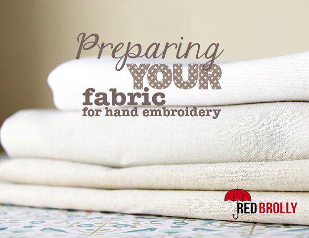 Preparación de la tela de bordado