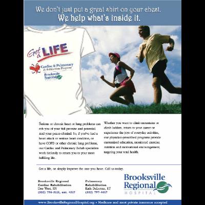 An ad designed for Brooksville Regional Medical Center