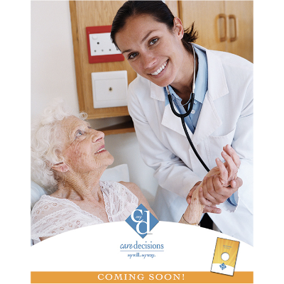 Healthcare Provider Care Decisions Poster - Designed to target loved ones of seniors