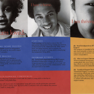 Brochure for Kids Hope United, a not-for-profit organization assisting disadvantaged children in Central Florida
