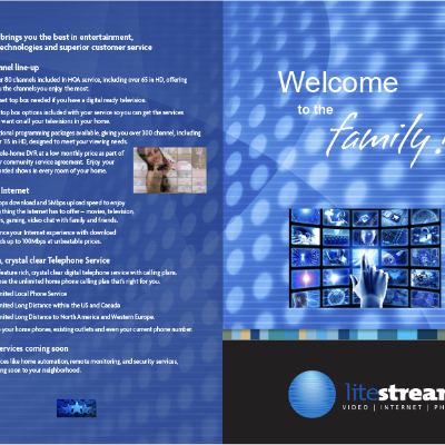 Print Collateral Campaign for Litestream Services, an Internet/Video/Phone provider in Central Florida
