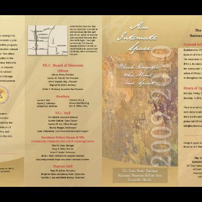 Brochure for Zora Neale Hurston Museum in Eatonville, Florida