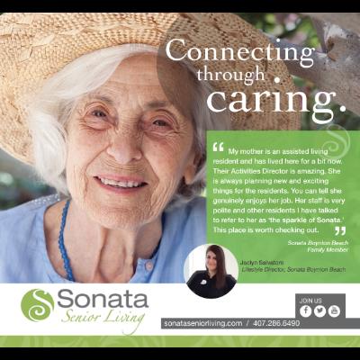 Ad for Sonata Senior Living, used both for print and social media