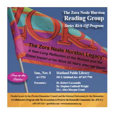 An Ad designed for Zola Neale Hurston Foundation, an organization promoting excellence in culture and adult literacy in the African-American community.