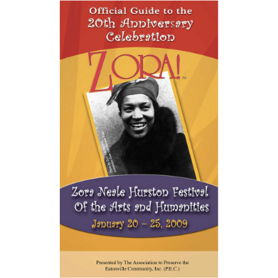 Booklet for Zora Neale Hurston Festival event in Eatonville, Forida