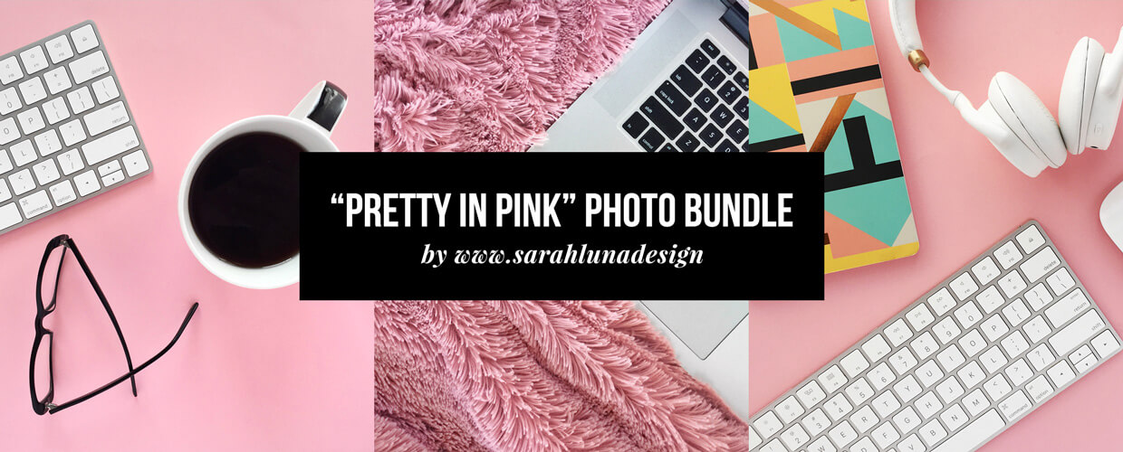Pretty in Pink Instagram Photo Bundle Blog Header Image