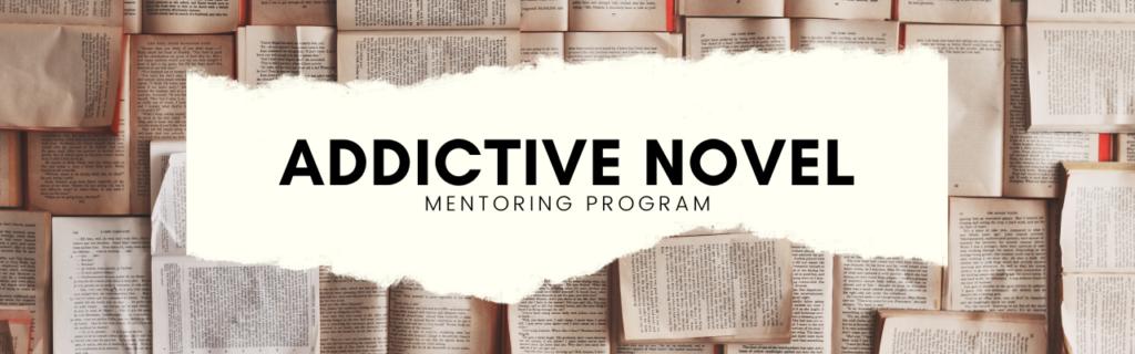 Addictive Novel Mentoring Program Website Banner