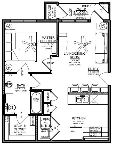 Churchill at Golden Triangle Floorplan A1