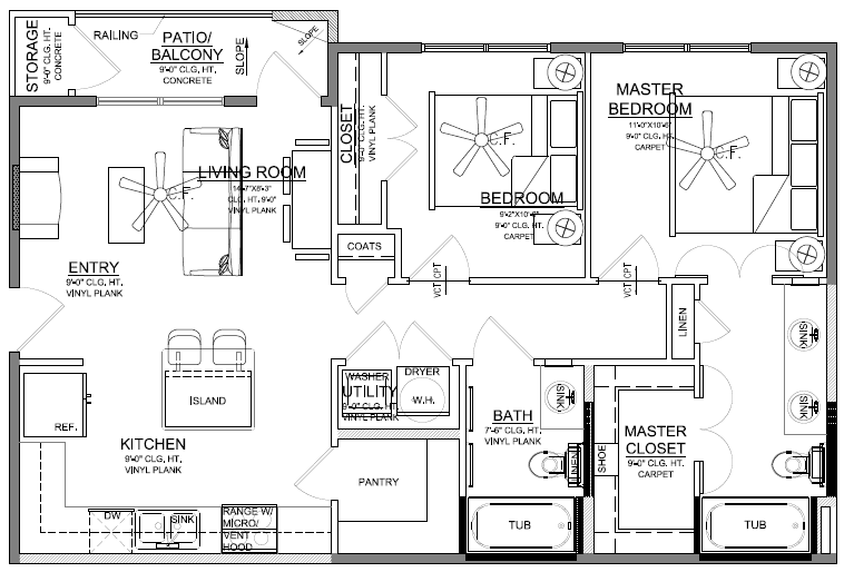 Churchill at Golden Triangle Floorplan B1
