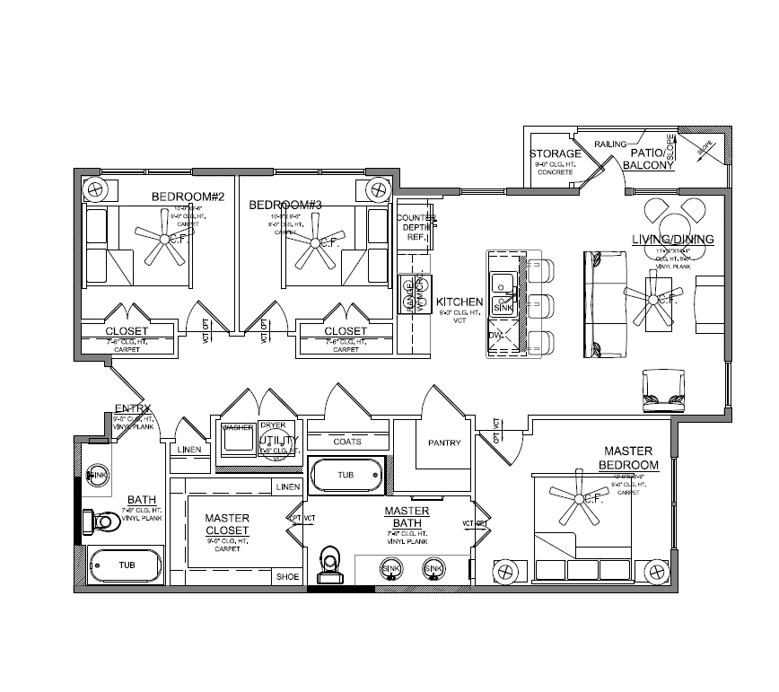 Churchill at Golden Triangle Floorplan C1