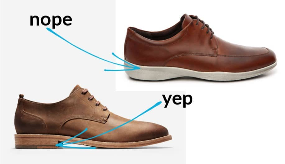 heel comparison on the best dress shoes for fat guys