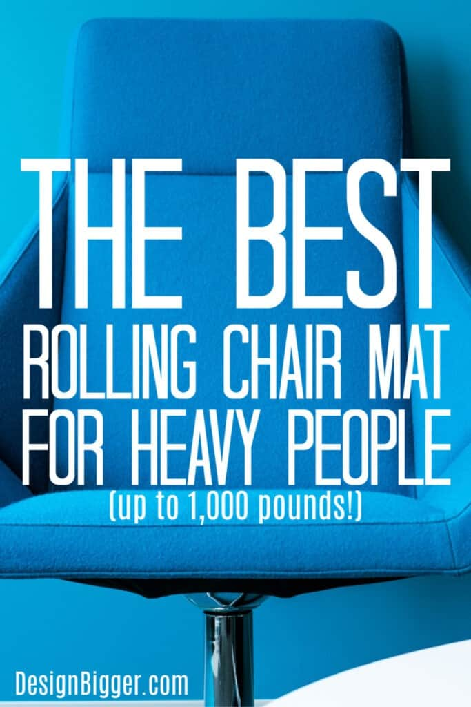 best chair mat for heavy person text pin