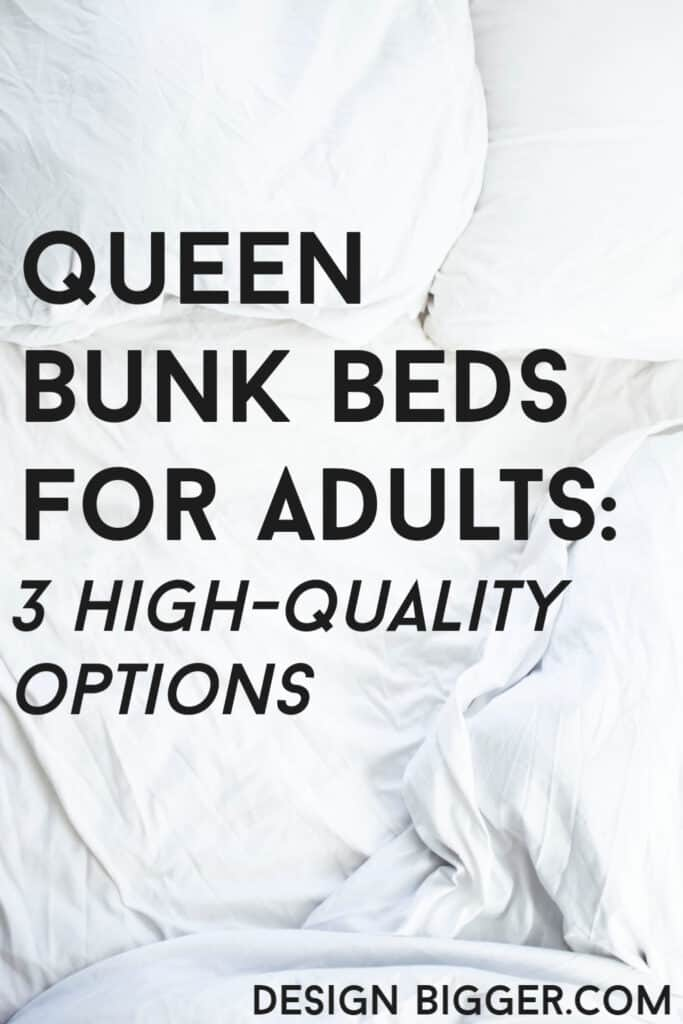 heavy duty queen bunk beds for adults