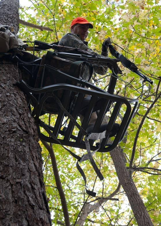 the best climbing tree stand for big guys in action