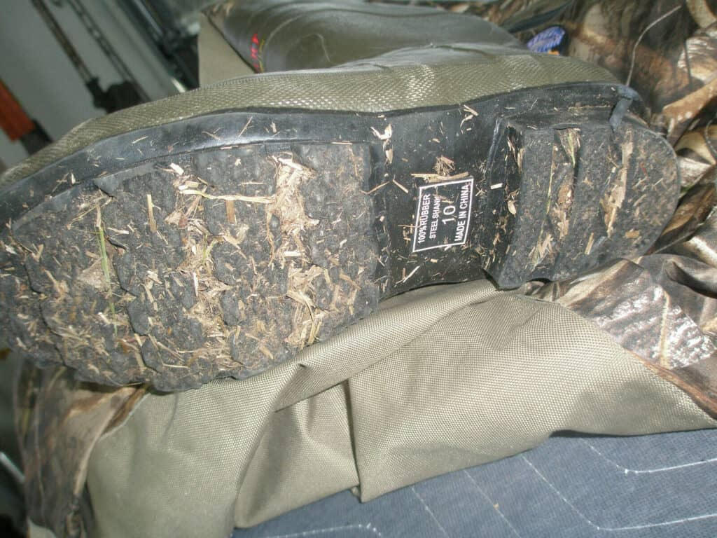 waders with a size 15 shoe