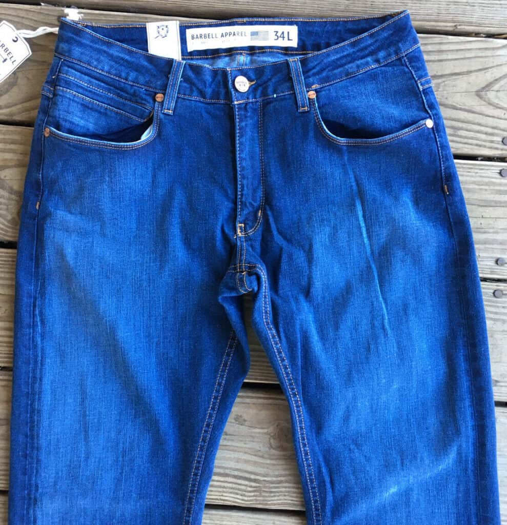jeans for men with big thighs front view