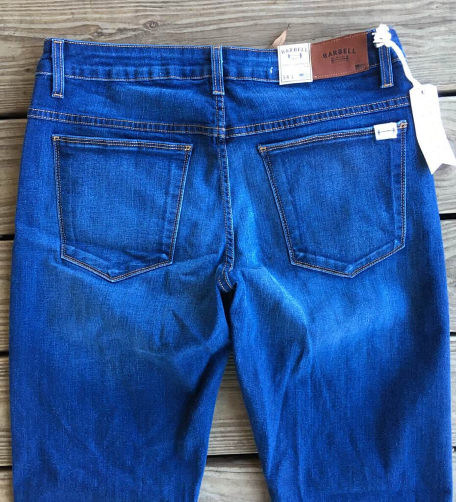 jeans for men with muscular thighs back view