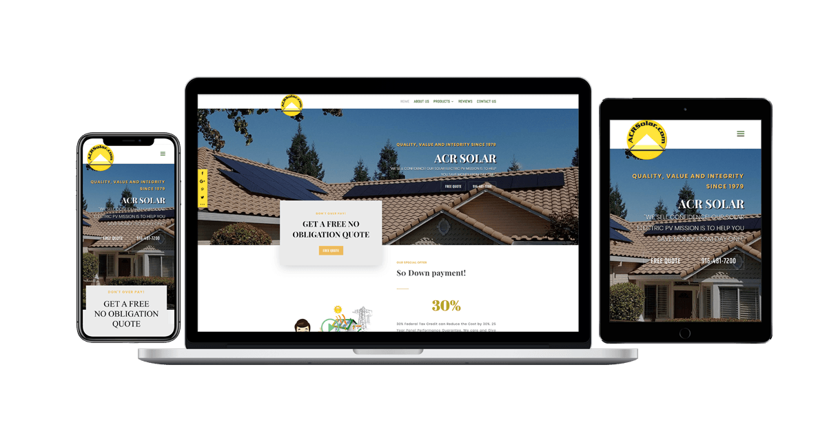 ACR Solar International Corporation - Blue Frog Web Design makes the Best Solar Websites! Have a Solar Electric PV business that needs a modern website? Call us today! We will make sure your website stands out in the crowd. #WordPress. #ResponsiveDesign. #SEO. #MobileFriendly. #Marketing. #GraphicDesign
