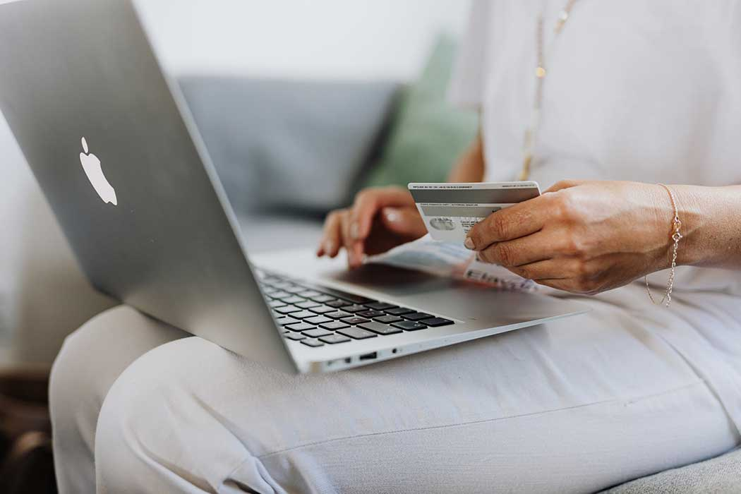 A person making a purchase online.