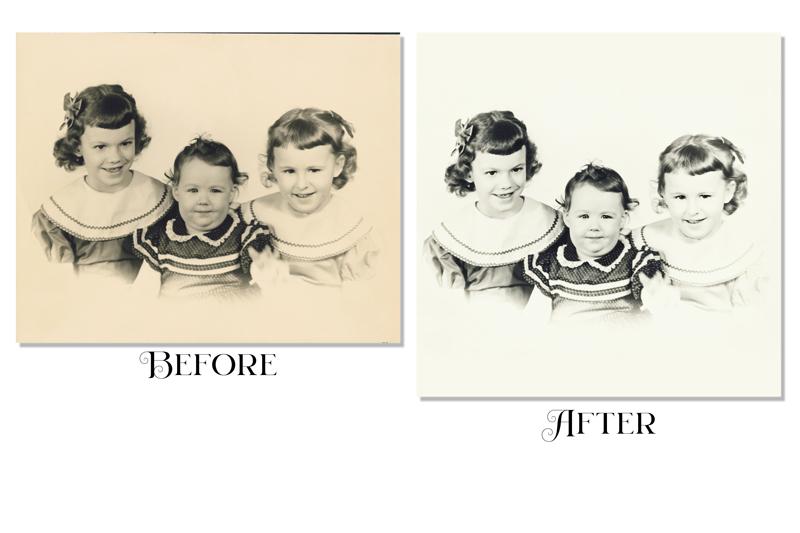 Karen Z Photography restoration before and after images