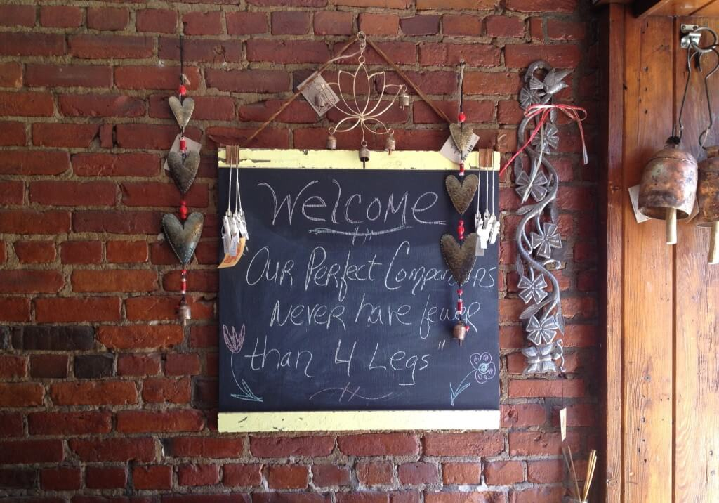 Sign at Red Wolf in Saratoga Springs, NY