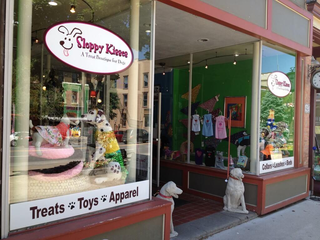 Sloppy Kisses storefront in Saratoga Springs, NY
