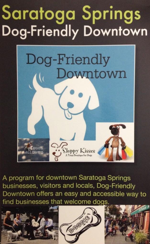 Saratoga Springs Dog-Friendly Downtown Flyer