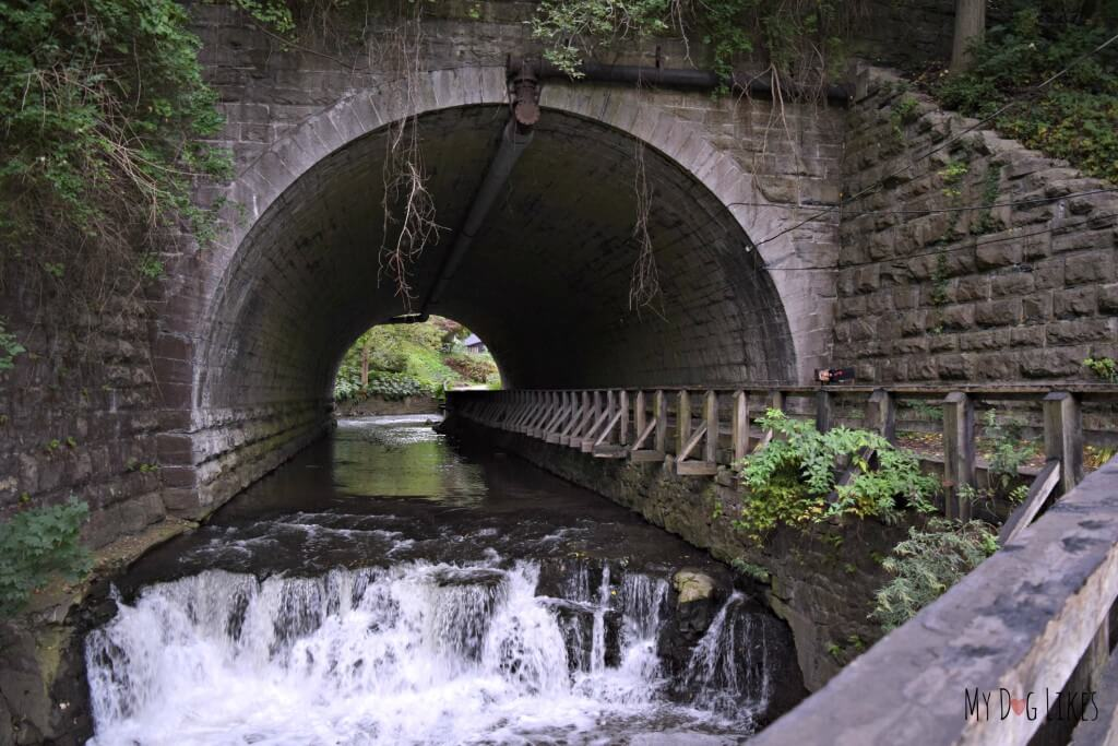 Stone Arch at the lower entrance to Corbett's Glen