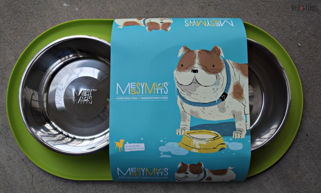 MyDogLikes review of the Messy Mutts Double Feeder