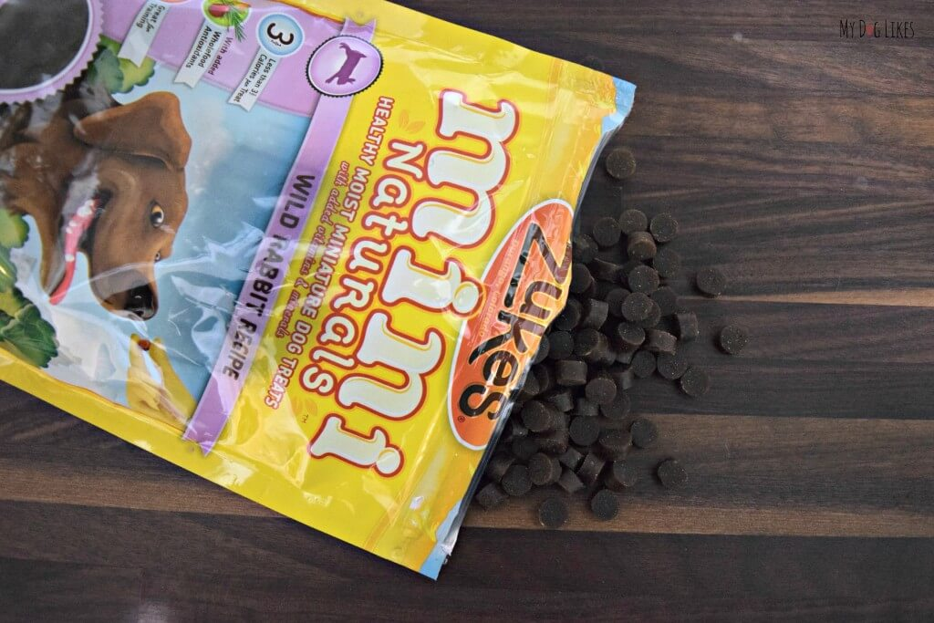 The small size of Zuke's Mini Naturals Dog Treats make them perfect for dog training