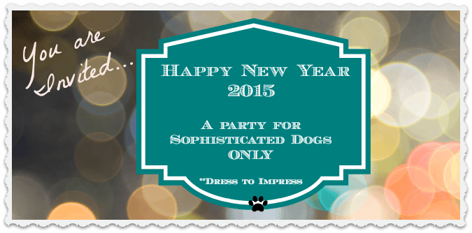 Harley's Dog Party Invitation to an exclusive New Year's Eve event!