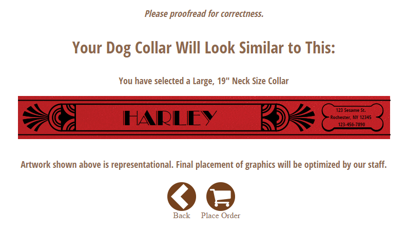 With RUHA's online product builder you can design your very own personalized dog collars!