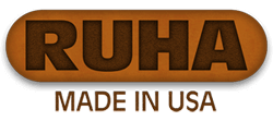 RUHA leather makes custom laser engraved dog collars