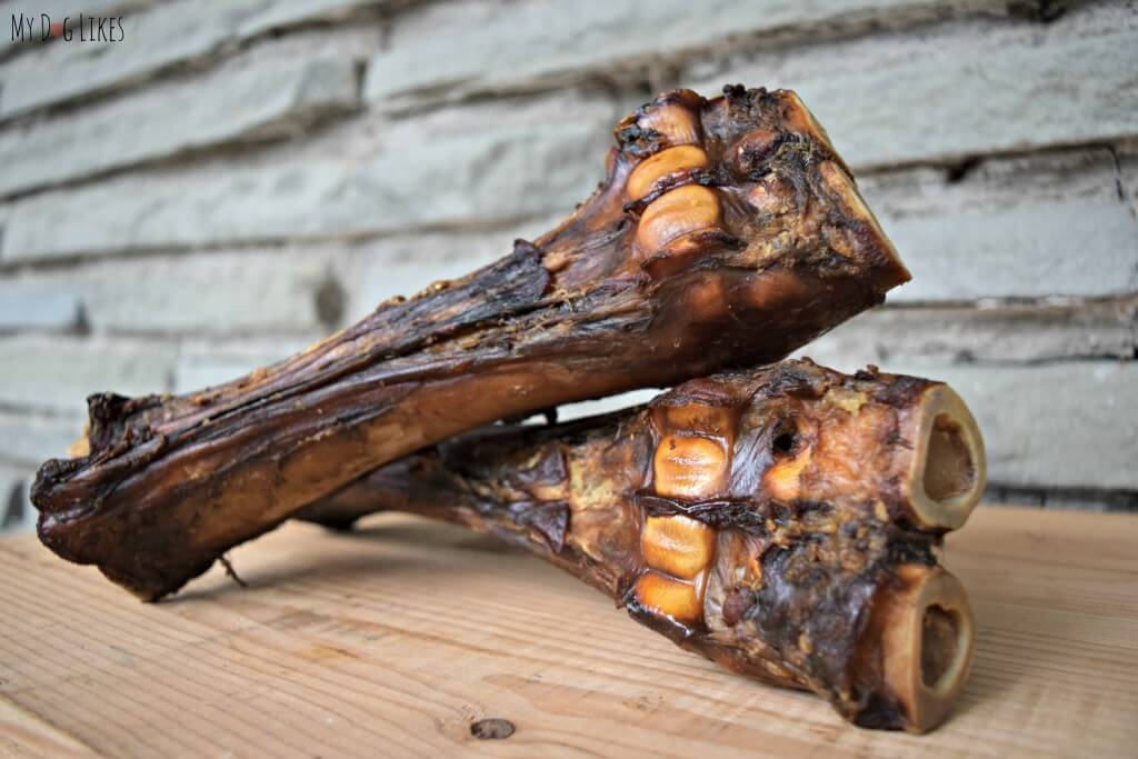 """Large dog bones from Merrick. This bone is called """"the Sarge."""""""