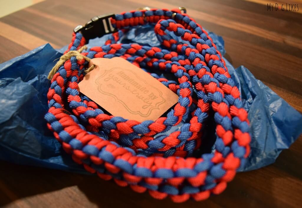 Pudin's Paw makes beautiful custom paracord Dog Collars and Leashes