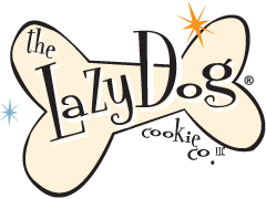 The logo for Lazy Dog Cookie Company