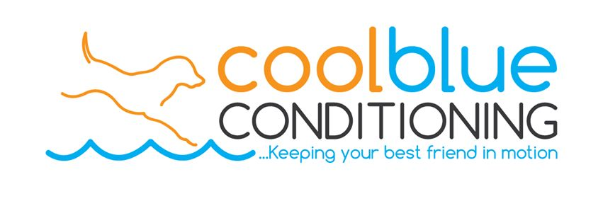 The logo for CoolBlue Conditioning dog fitness center in Macedon, NY