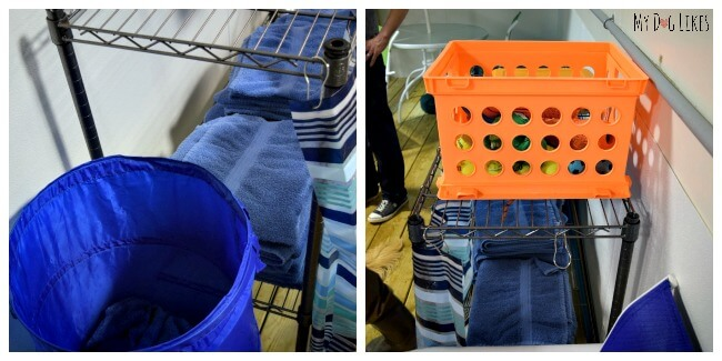 CoolBlue Conditioning provides towels and a blow dry station to dry off your dogs before you leave!