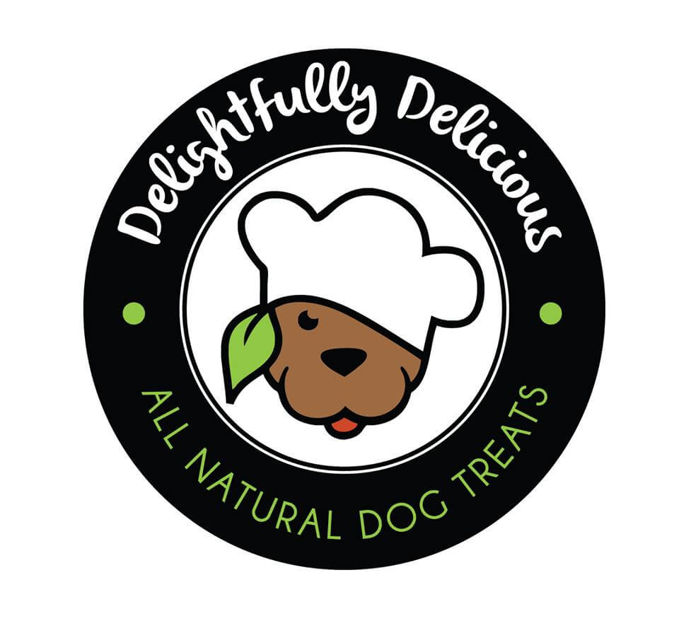 The logo for Delightfully Delicious bakery in Rochester, NY!