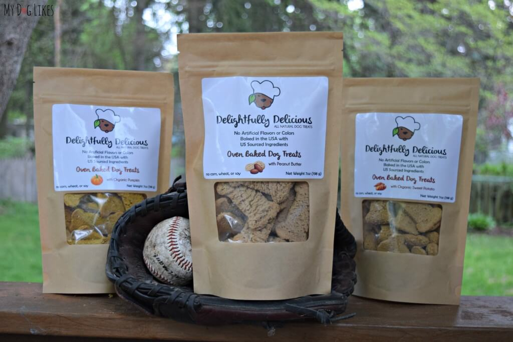 MyDogLikes reviews Delightfully Delicious dog treats from Rochester, NY!