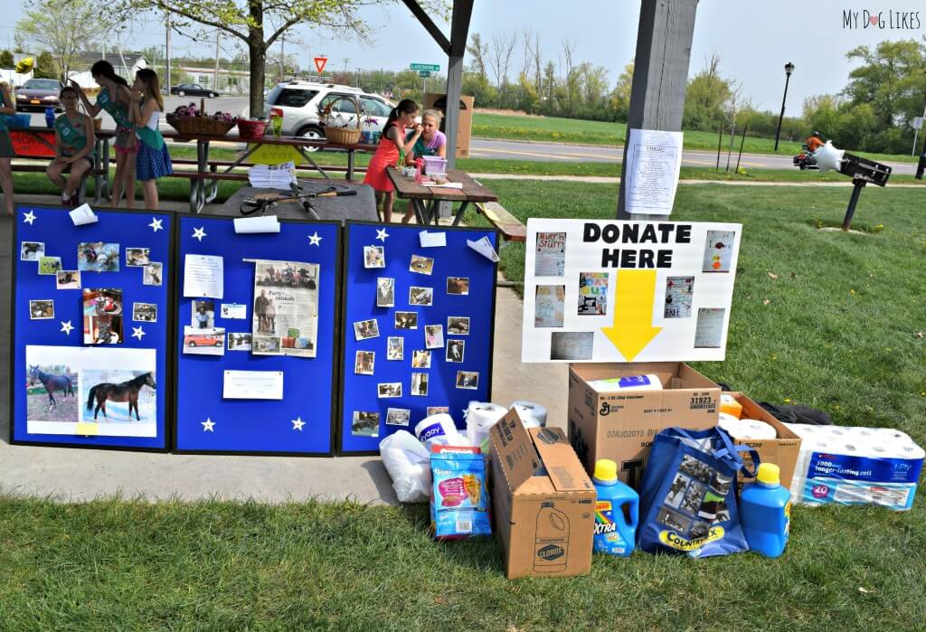 Donations were collected for Happy Tails Rescue of the Ontario County Humane Society