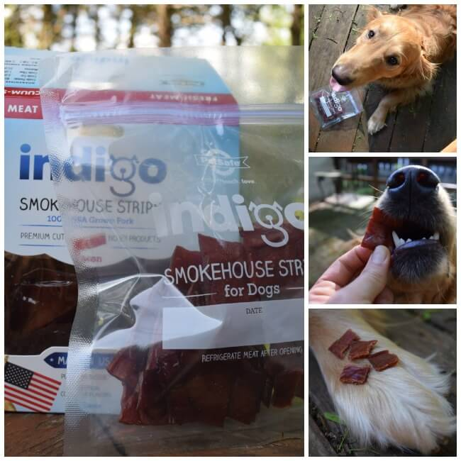 Our boys loved these pork dog treats from Indigo