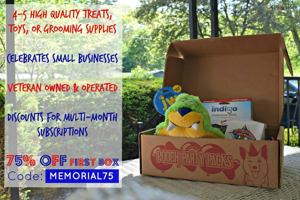 Pooch Party Packs is a dog subscription box that celebrates small businesses! Check out what else we love about them in the official MyDogLikes review!