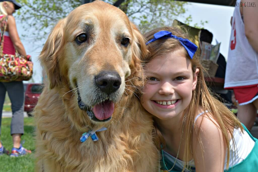 Harley once again proving why Golden Retrievers are some of the best dogs for kids!