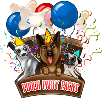 The logo for Pooch Party Packs subscription box for dogs