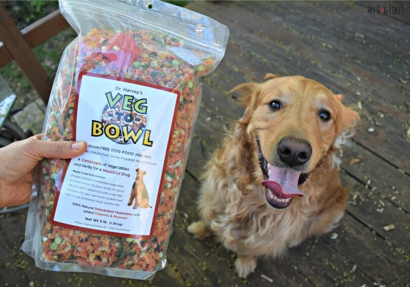 See what Charlie thought of the Dr. Harvey's Veg to Bowl grain free pre-mix in the official MyDogLikes review!